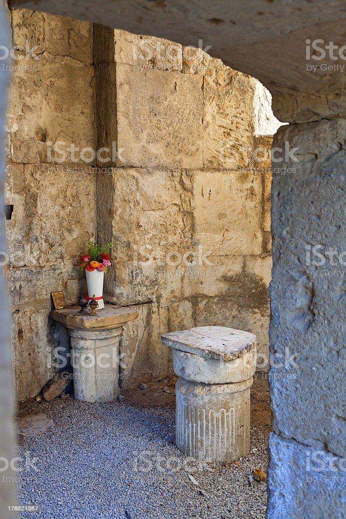 Agios Titos at Crete island in Greece stock photo
