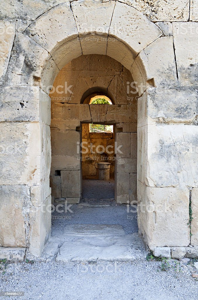 Agios Titos at Gortyna, Crete island, Greece stock photo