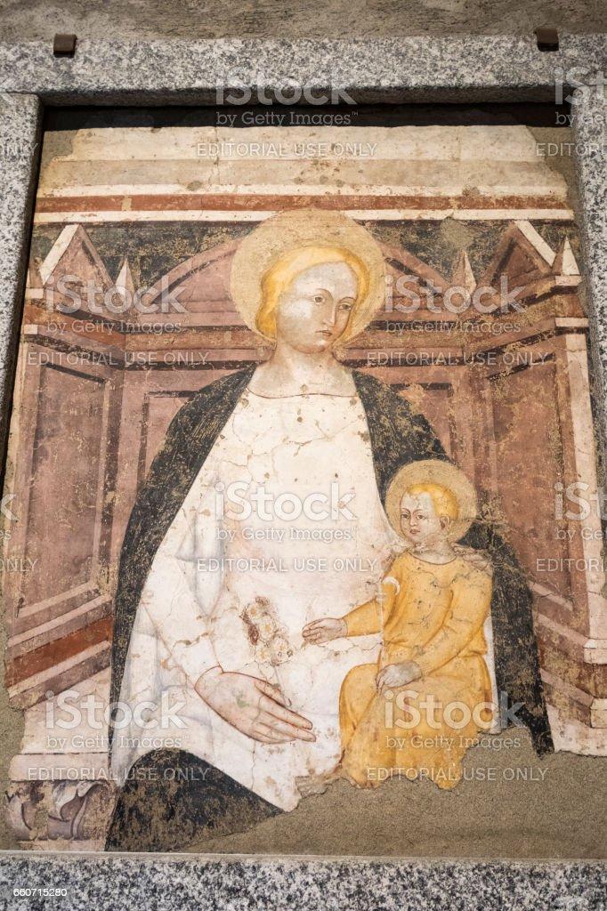 Agliate Brianza (Italy): historic church stock photo
