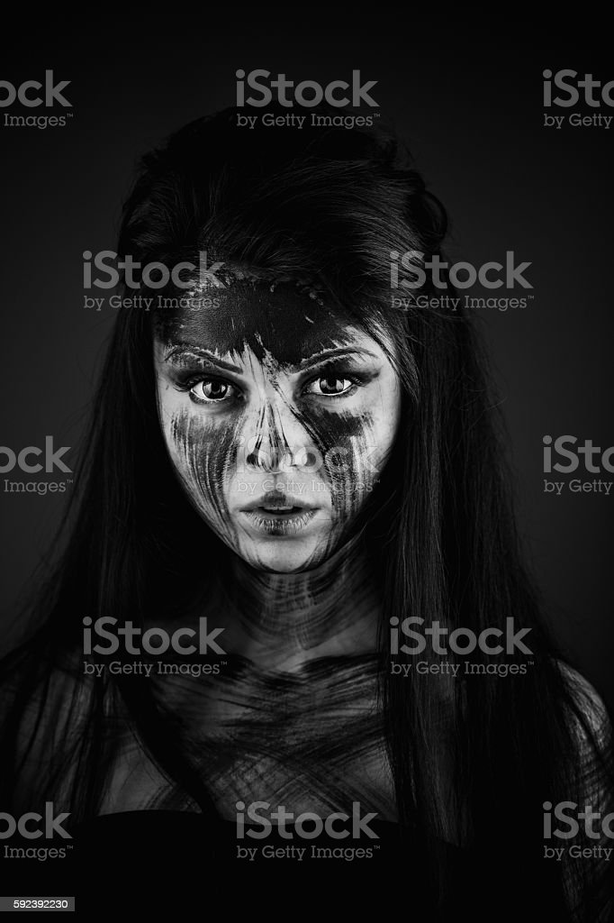 Agly terrible make-up stock photo