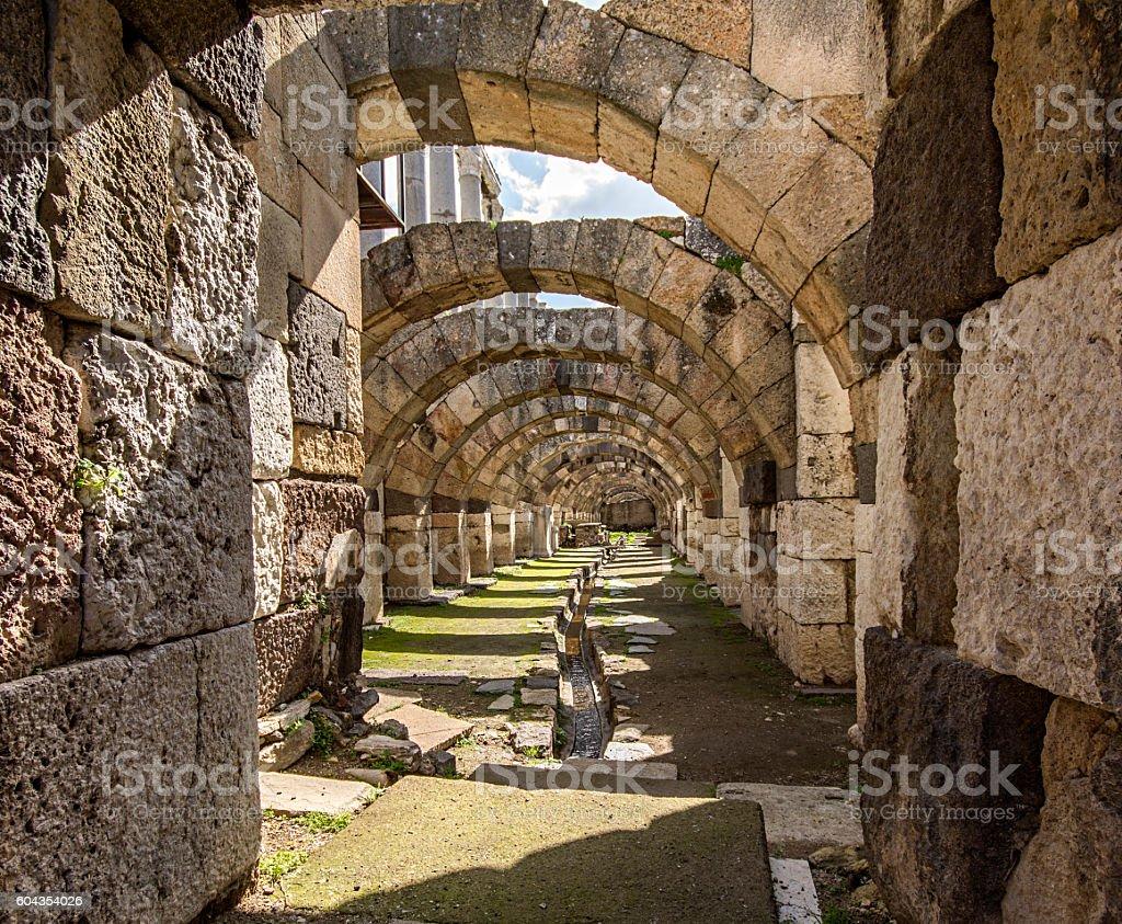 Agora ancient city of Smyrna stock photo