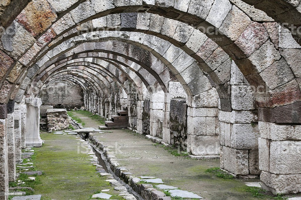 Agora of Smyrna in Izmir, Turkey stock photo