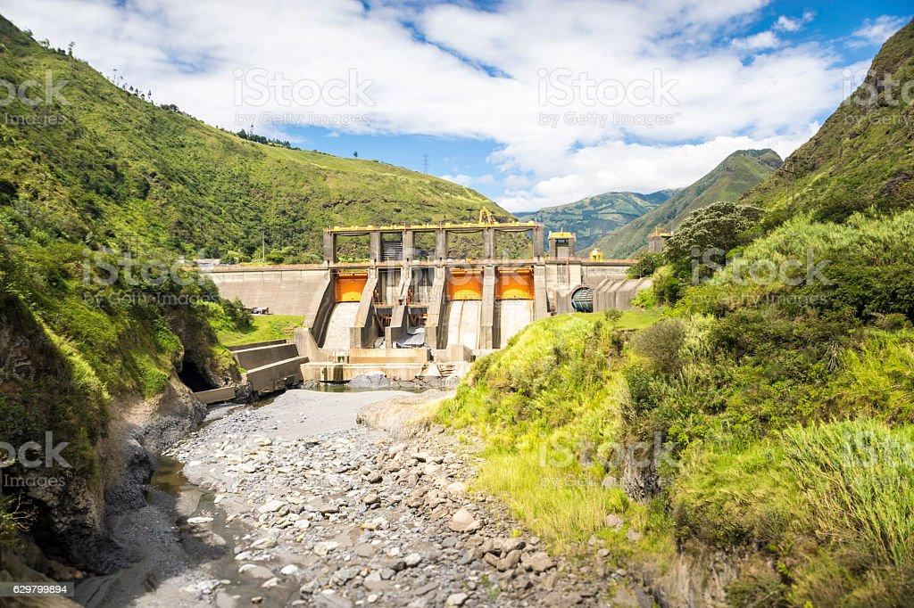 Agoyan electric generation dam stock photo
