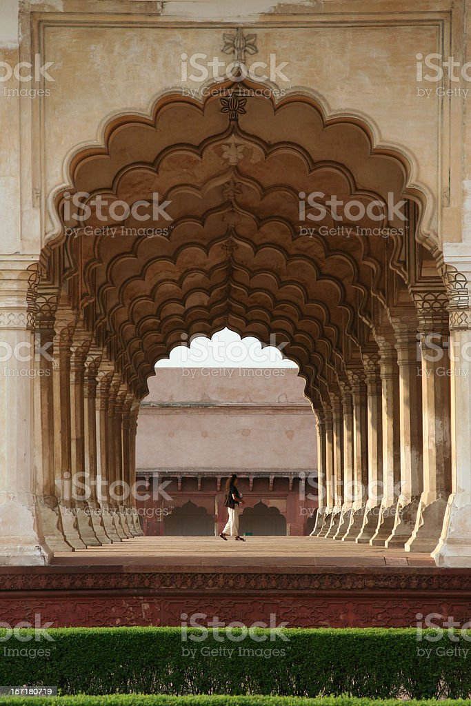 Agra Fort Archway royalty-free stock photo