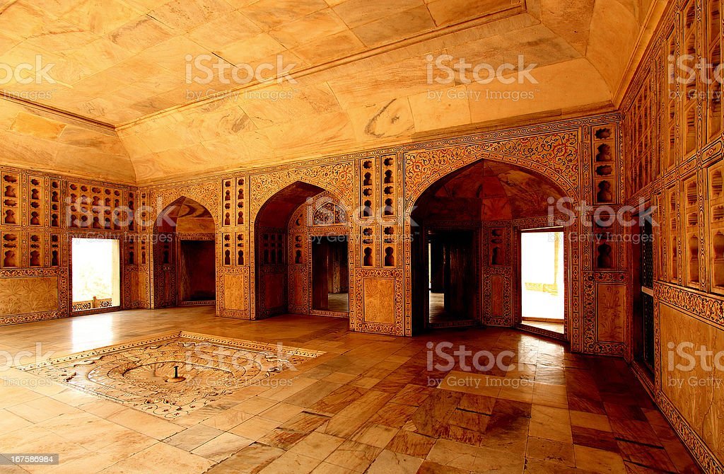 Agra red fort Sha Jahan living room royalty-free stock photo