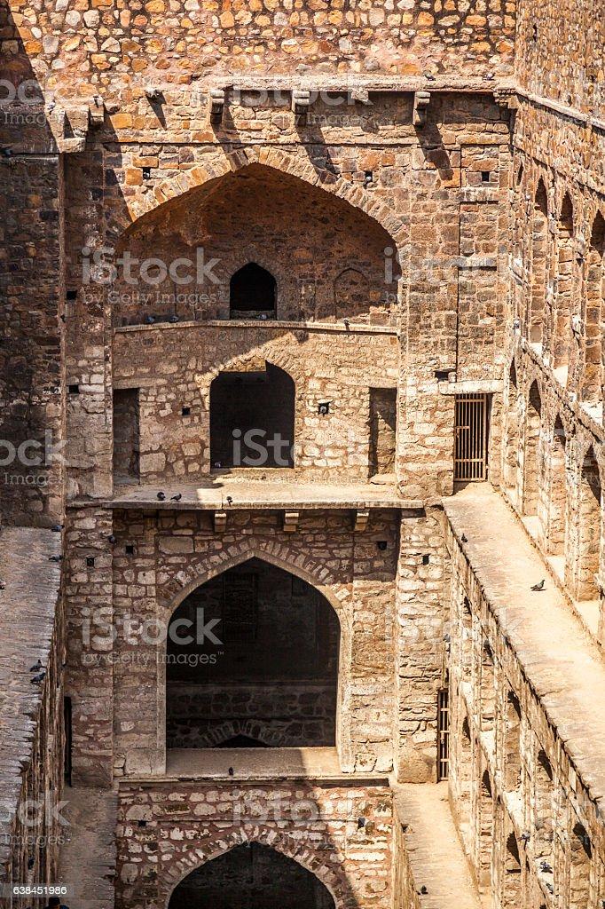 Agrasen ki Baoli stepwell stock photo
