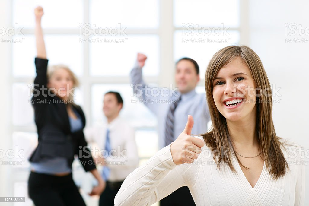 Agreeing royalty-free stock photo