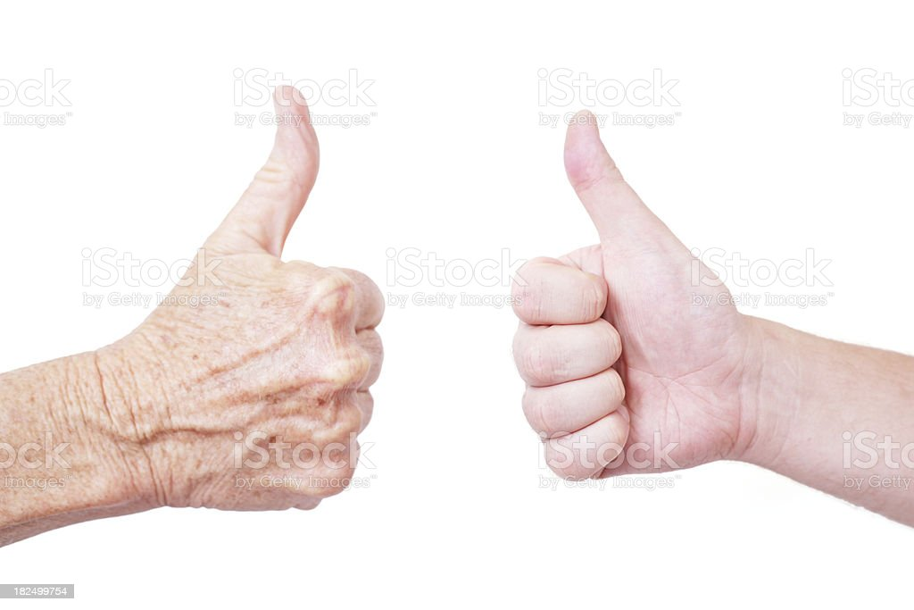 Agreement across generations royalty-free stock photo