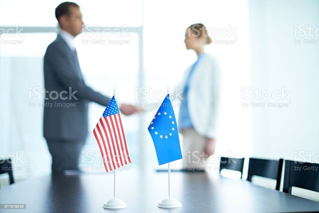 Agreement between countries stock photo
