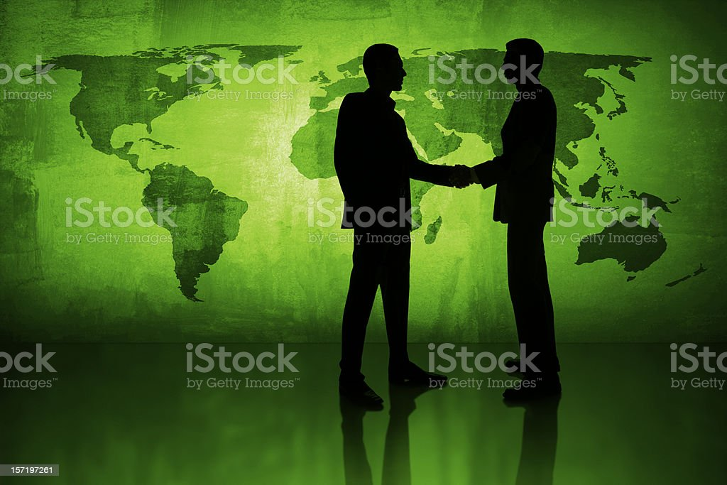 Agreement for a green world royalty-free stock photo