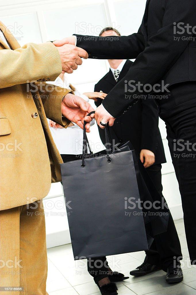 Agreement handshake stock photo