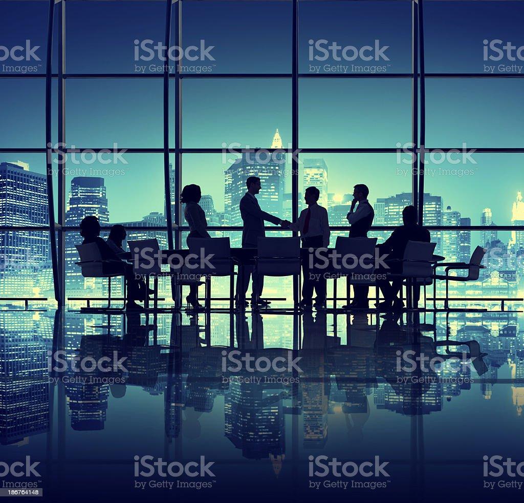 Agreement in the Office stock photo