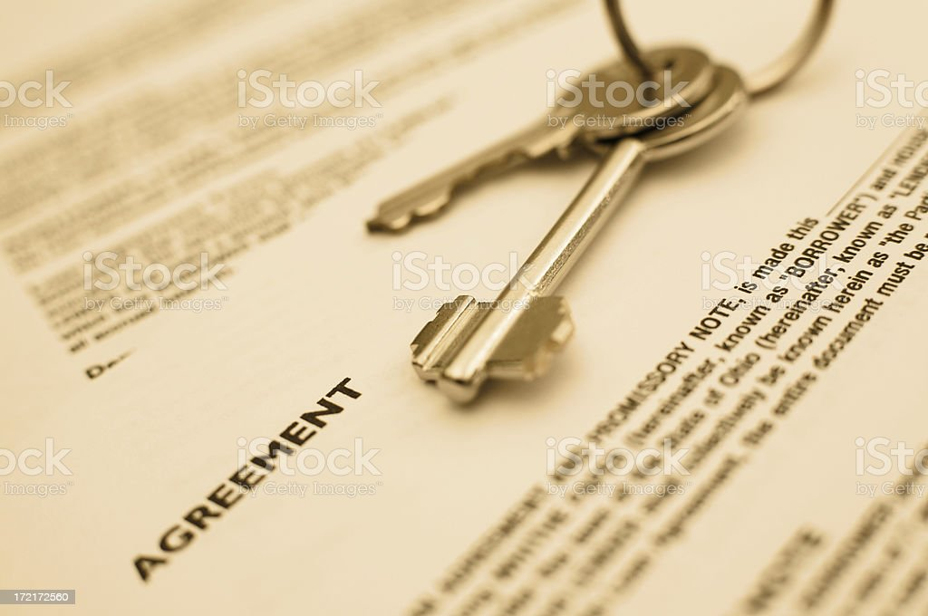 Agreement keys royalty-free stock photo