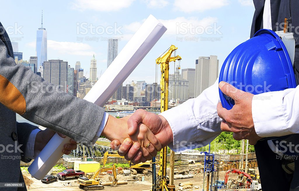 Agreement, NYC. royalty-free stock photo