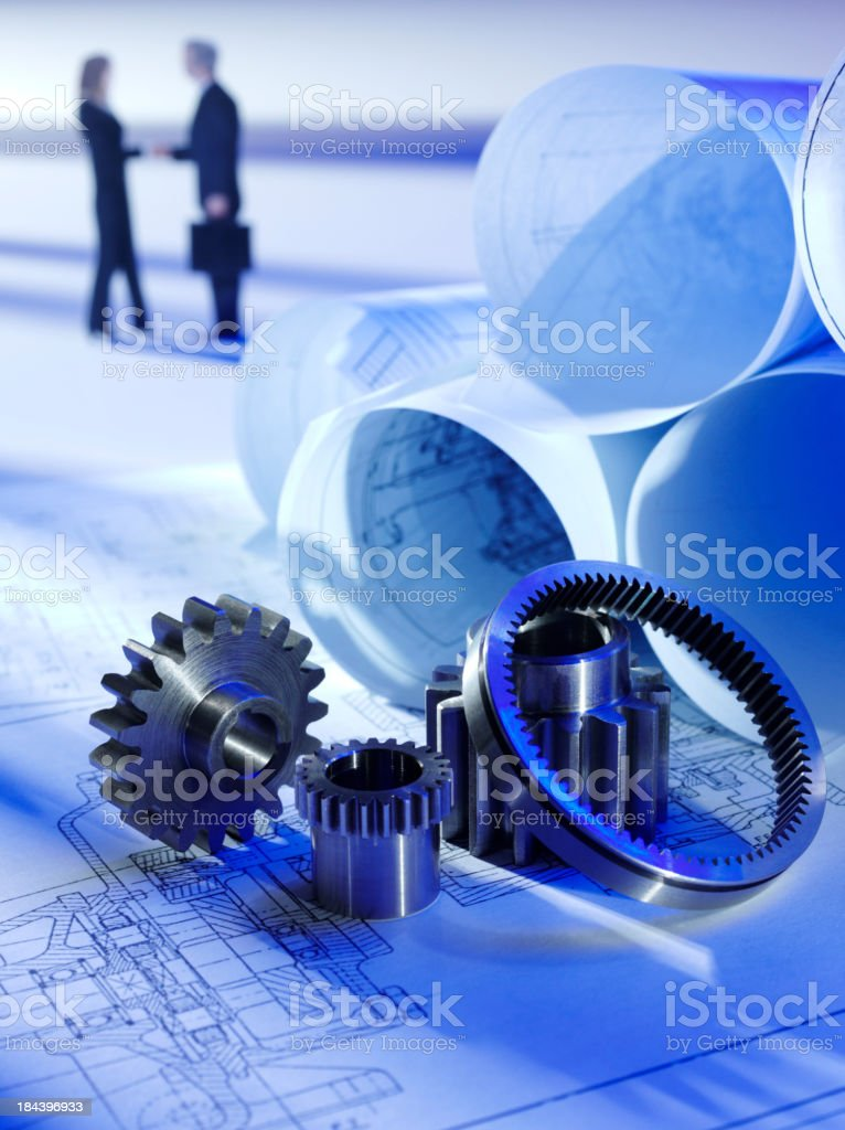 Agreement on a Technical Drawing royalty-free stock photo