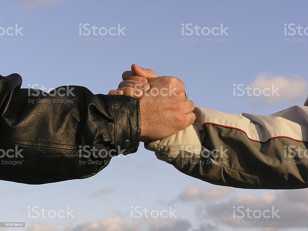 Agreement Power Jock Handshake stock photo