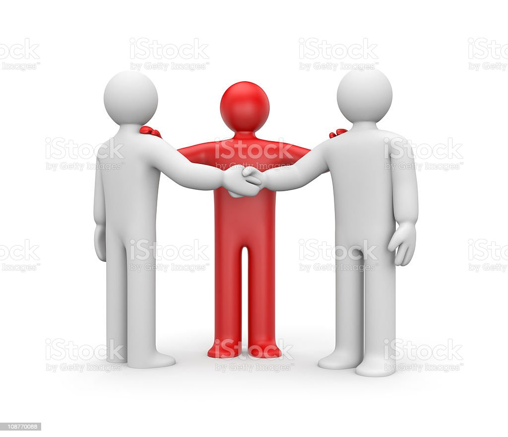 Agreement with intermediary royalty-free stock photo