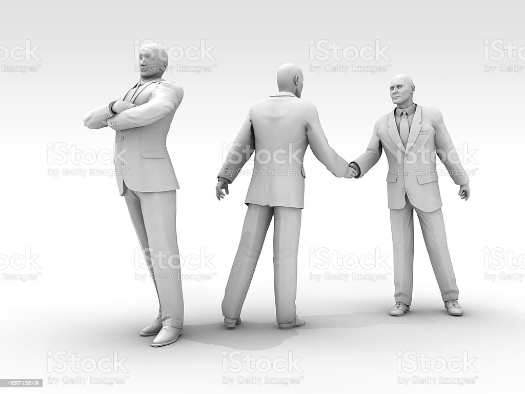 Agreements and Disgruntled Parties royalty-free stock photo