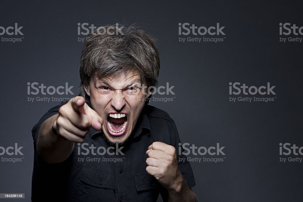 Agression royalty-free stock photo