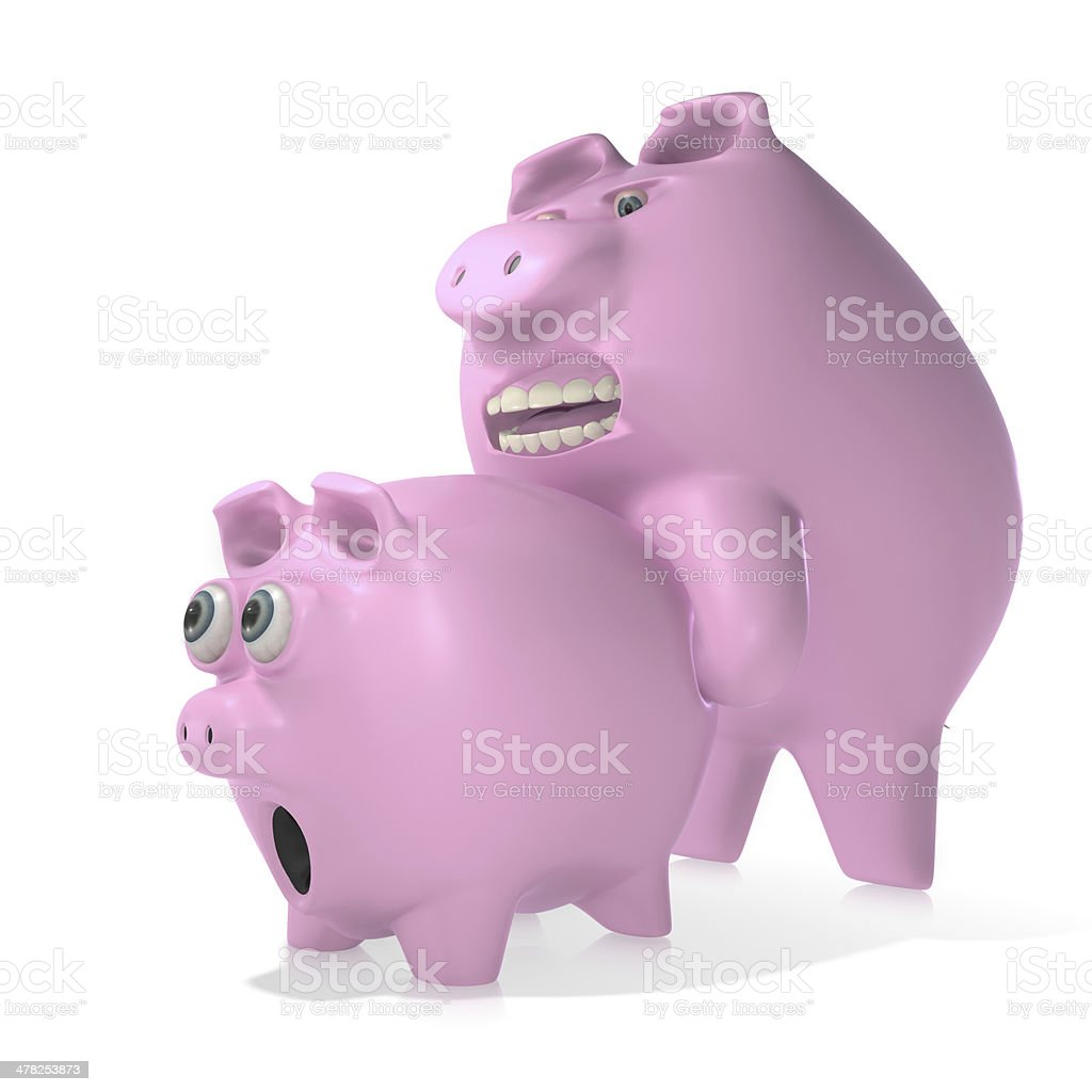 Agressive bank stock photo