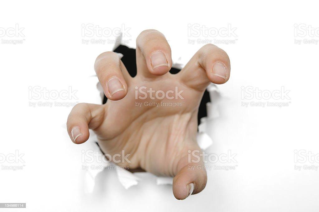 Jugée agressive main photo libre de droits