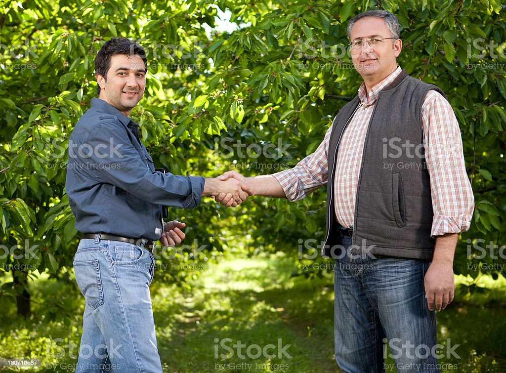 Agricultural Agreement royalty-free stock photo