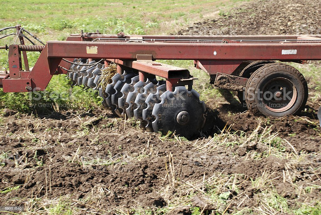 agricultural disc harrow stock photo