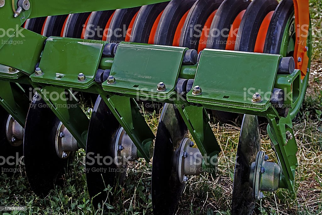 Agricultural equipment. Details royalty-free stock photo