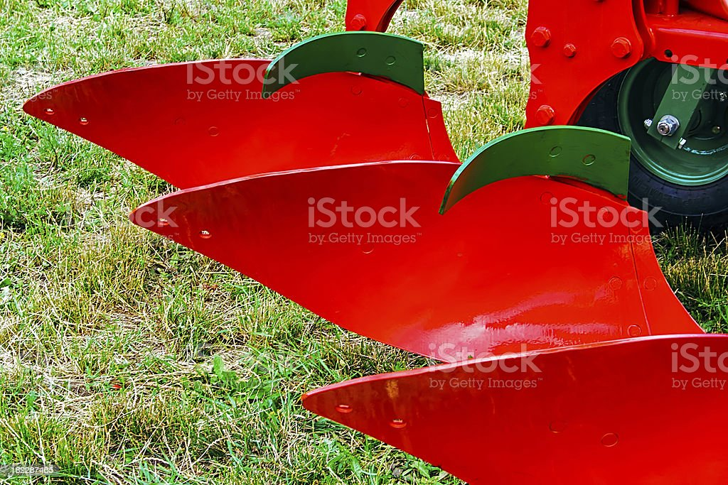 Agricultural equipment. Details stock photo