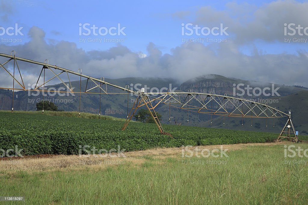 Agricultural irrigation system on a South African Farm royalty-free stock photo