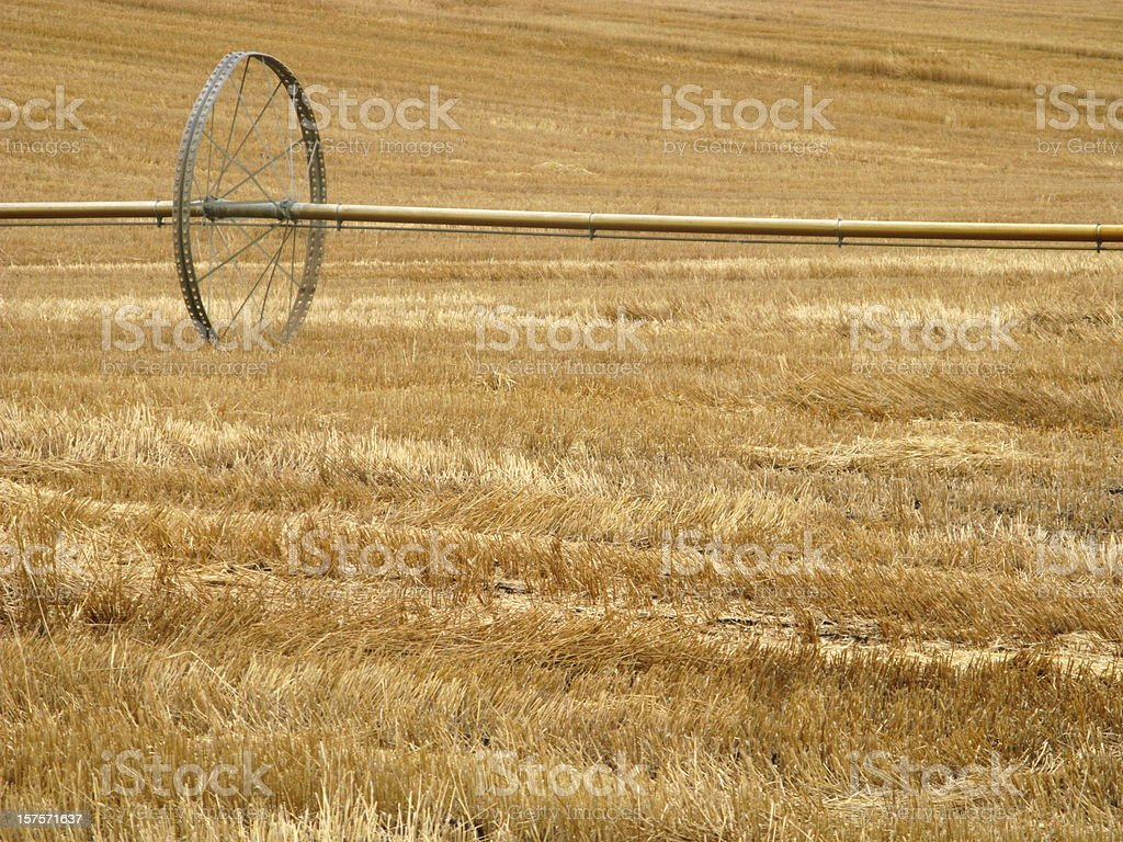 Agricultural Irrigation Wheel stock photo