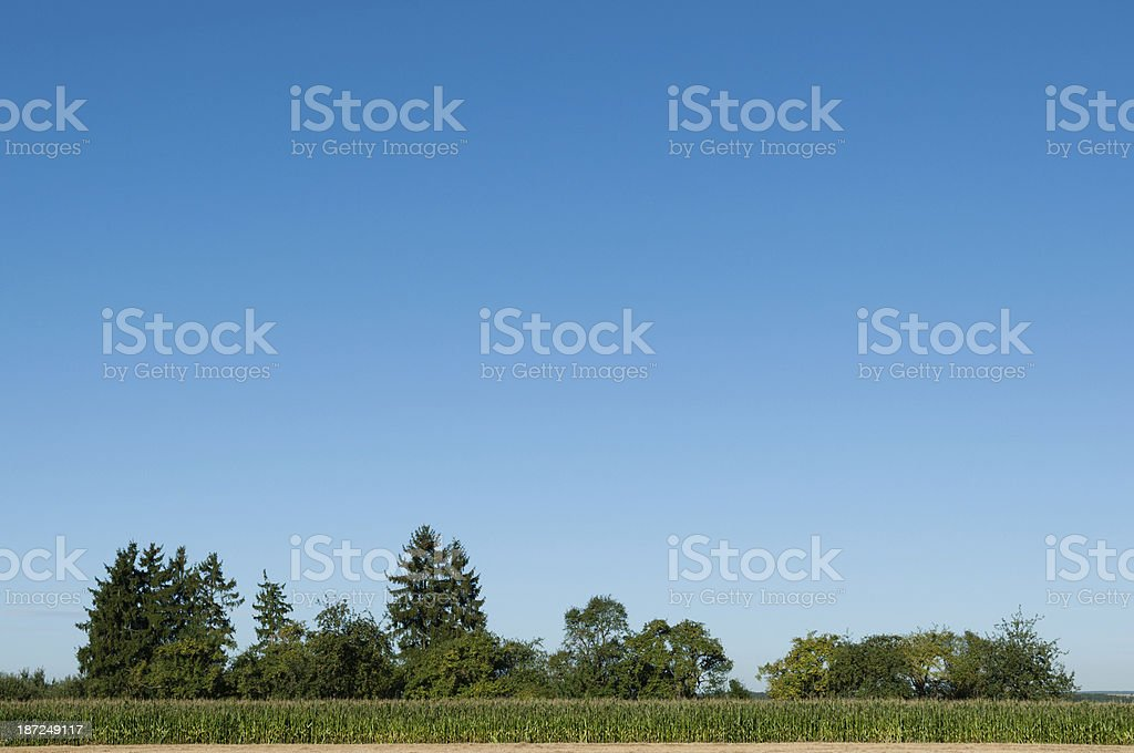 Agricultural landscape in southern Germany royalty-free stock photo