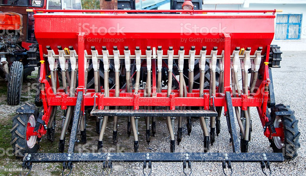 Agricultural machine stock photo
