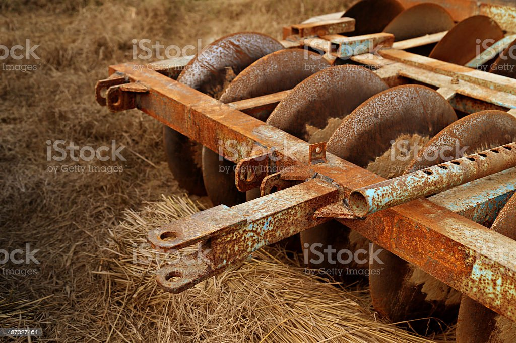 Agricultural Machinery (Harrow) stock photo