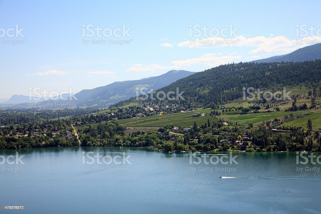 Agricultural Setting Around Kalamalka Lake Vernon British Columbia stock photo