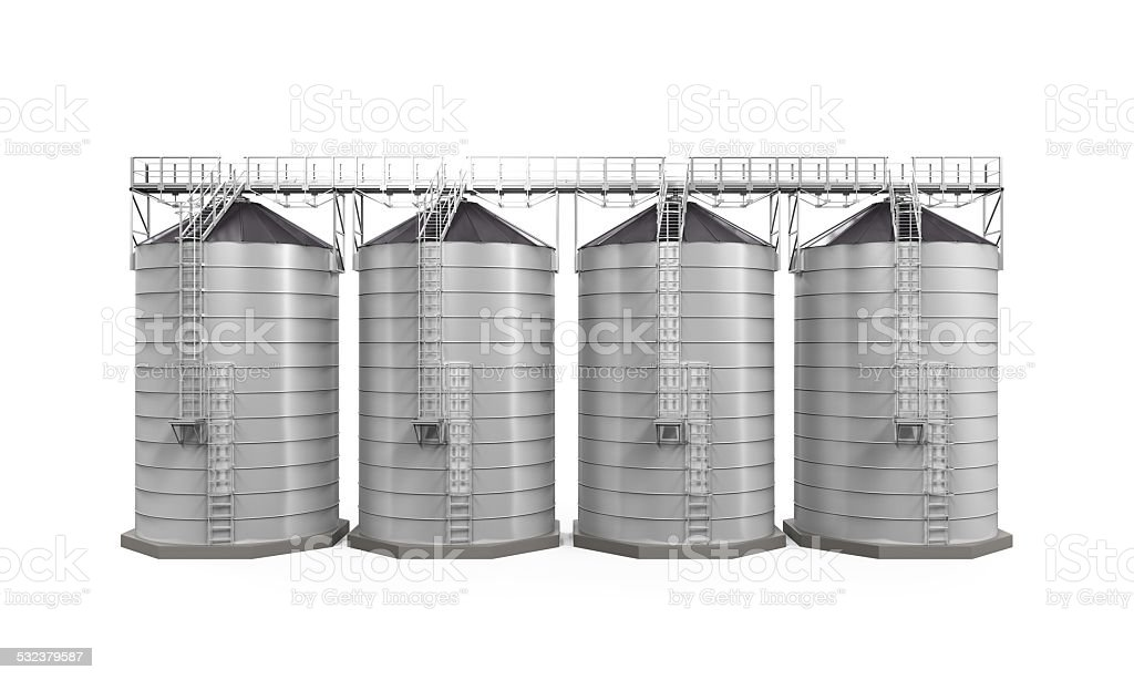Agricultural Silo Isolated stock photo
