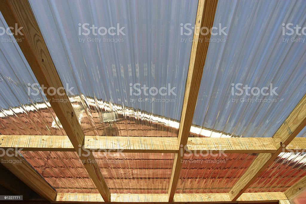 Agricultural solar roof royalty-free stock photo