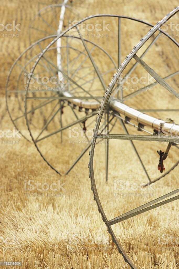 Agricultural Sprinkler Irrigation Wheel Line royalty-free stock photo