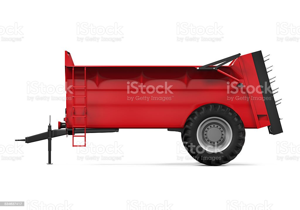 Agricultural Trailer Isolated stock photo