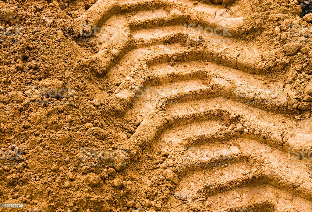 Agricultural Tyre Track stock photo