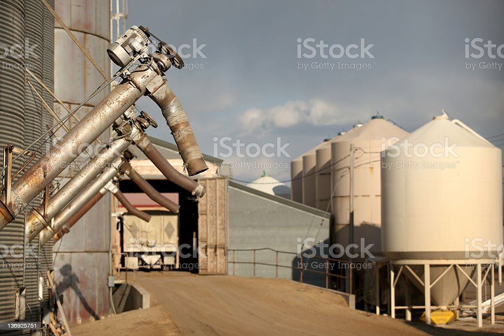 Agricultural Warehouse in Montana stock photo