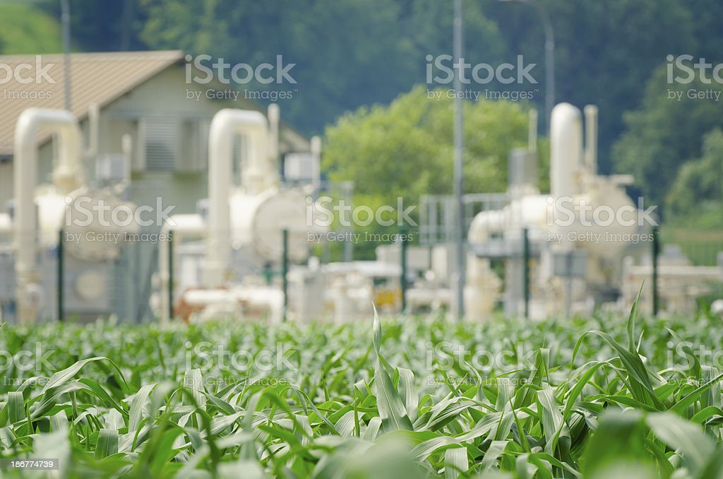 Agriculture and Industry royalty-free stock photo