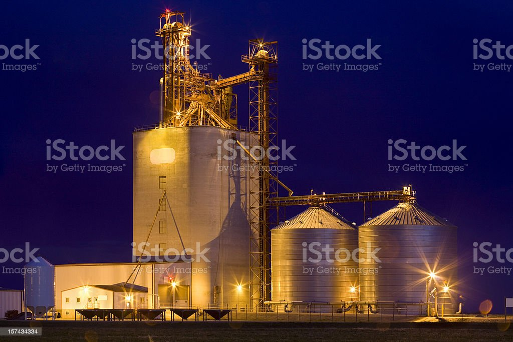 Agriculture, Grain Elevators stock photo