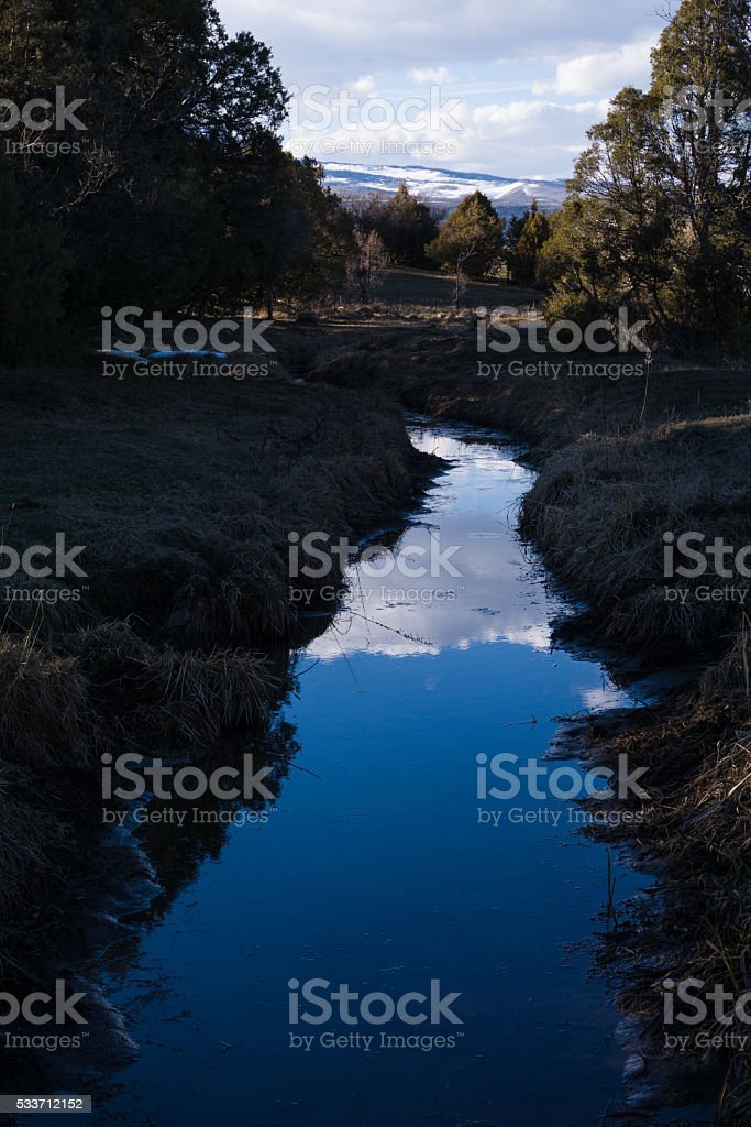 Agriculture Irrigation Ditch stock photo