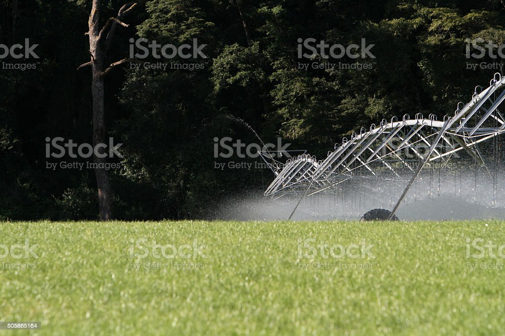 Agriculture Irrigation stock photo