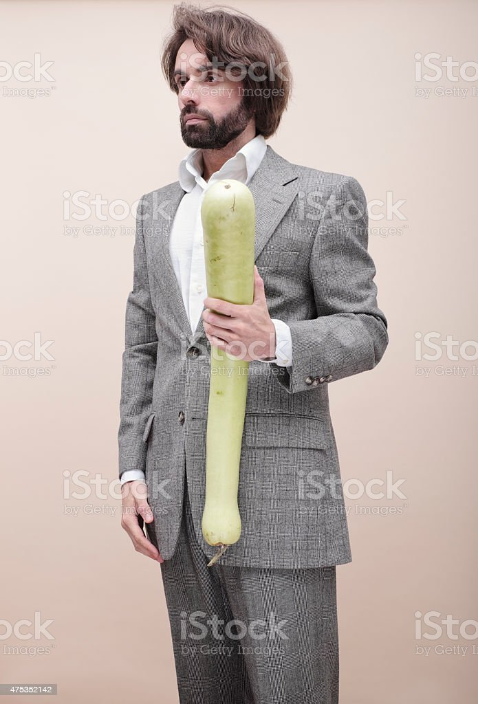 Agriculture is serious business for this businessman! stock photo