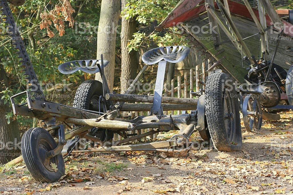 agriculture machine-historic exhibit royalty-free stock photo