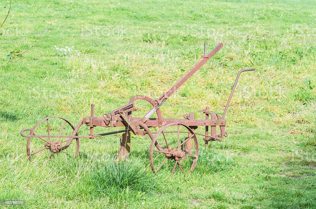 Agriculture old machine stock photo
