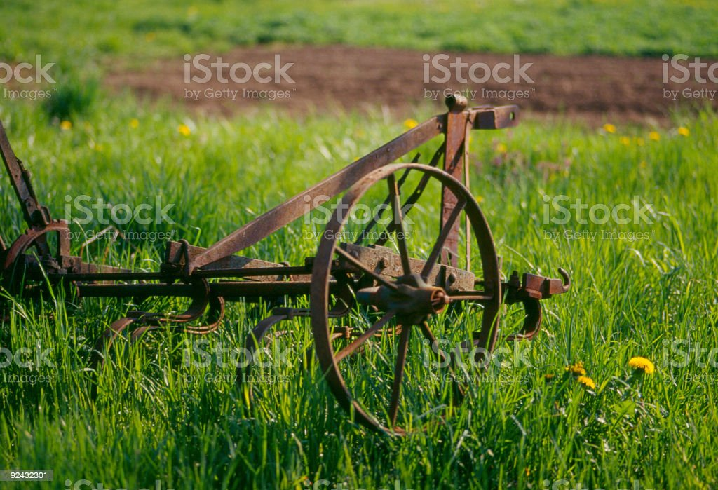 Agriculture - plow royalty-free stock photo