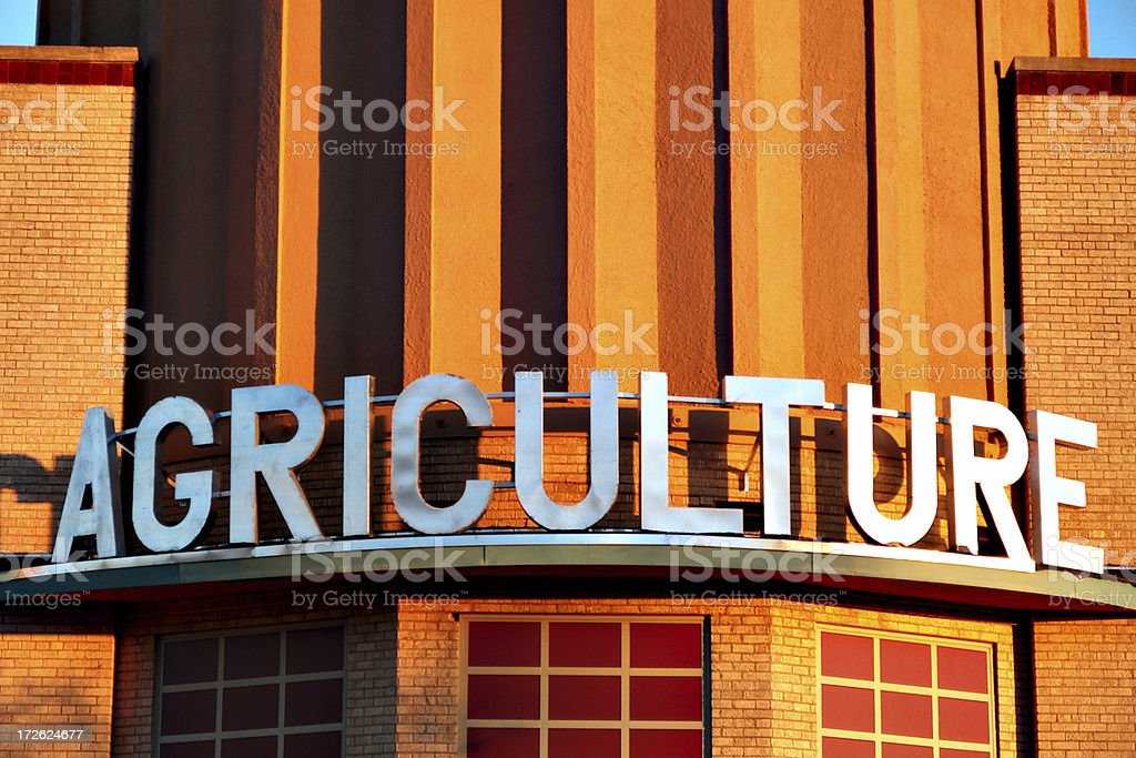 Agriculture sign stock photo